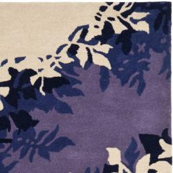 Safavieh Handmade Soho Silhouette Beige New Zealand Wool Rug (3'6 x 5'6') - Thumbnail 1