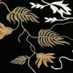 Safavieh Handmade Soho Willow Black New Zealand Wool Rug (6' Square)