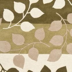 Safavieh Handmade Soho Garden Green New Zealand Wool Rug (3'6 x 5'6') - Thumbnail 2