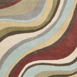Safavieh Handmade Soho Waves New Zealand Wool Rug (7'6 x 9'6)