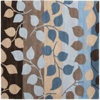Safavieh Handmade Soho Garden Brown New Zealand Wool Rug (6' Square)
