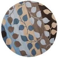 Safavieh Handmade Soho Garden Brown New Zealand Wool Rug (6' Round) - 6' Round
