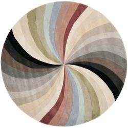 Safavieh Handmade Soho Vortex New Zealand Wool Rug (6' Round)