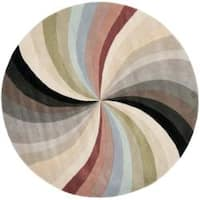 Safavieh Handmade Soho Vortex New Zealand Wool Rug - 6' x 6' Round