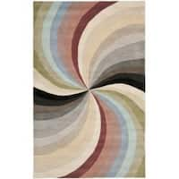 Safavieh Handmade Soho Vortex Modern Abstract Wool Rug - 5' x 8'