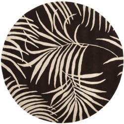 Safavieh Handmade Soho Fern Brown New Zealand Wool Rug (6' Round)