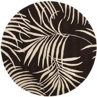 Safavieh Handmade Soho Fern Brown New Zealand Wool Rug - 6' x 6' Round