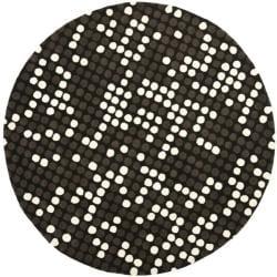 Safavieh Handmade Soho Dots Black New Zealand Wool Rug (6' Round)