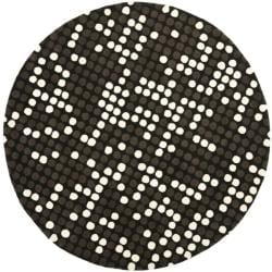 Safavieh Handmade Soho Dots Black New Zealand Wool Rug - 6' x 6' Round - Thumbnail 0