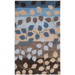 Safavieh Handmade Soho Garden Brown New Zealand Wool Rug - 7'6 x 9'6 - Thumbnail 0