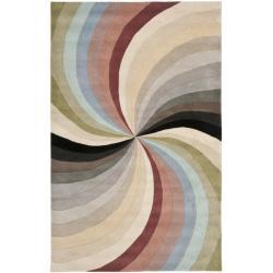 Safavieh Handmade Soho Vortex Modern Abstract Wool Rug - 7'6 x 9'6 - Thumbnail 0