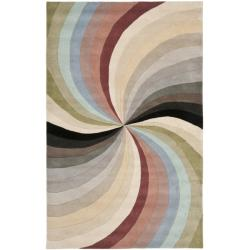 Safavieh Handmade Soho Vortex Modern Abstract Wool Rug (3' 6 x 5' 6)
