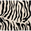 Safavieh Handmade Soho Zebra Beige/ Black New Zealand Wool Rug (6' Square) - 6' Square