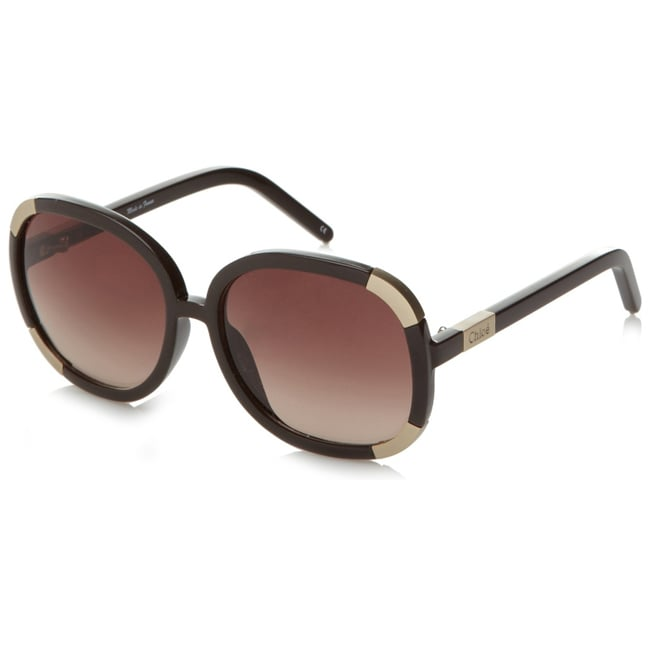 ad2f8813f2a Shop Chloe CL 2119 C04 Brown Plastic Sunglasses - Free Shipping Today -  Overstock - 6625362