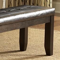 Callington Rich Espresso Mission Cushioned 48-inch Bench - Thumbnail 1