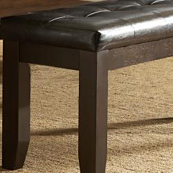 Callington Rich Espresso Mission Cushioned 48-inch Bench - Thumbnail 2