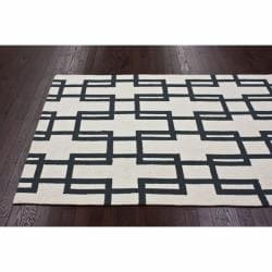 nuLOOM Handmade Trellis Ivory Wool Rug (7'6 x 9'6) - Thumbnail 1