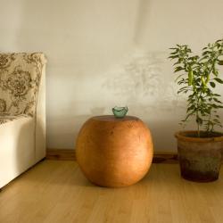 Mango Wood Ball End Table (Thailand)