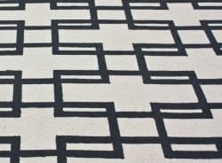 nuLOOM Handmade Trellis Ivory Wool Rug (7'6 x 9'6) - Thumbnail 2
