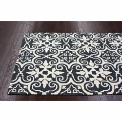 nuLOOM Handmade Spanish Tile Grey Wool Rug (5' x 8')
