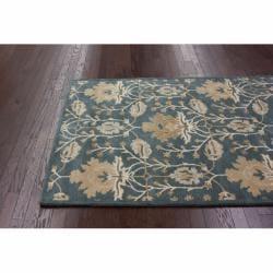 nuLOOM Handmade Mona Arts and Crafts Slate Wool Rug (5' x 8') - Thumbnail 1