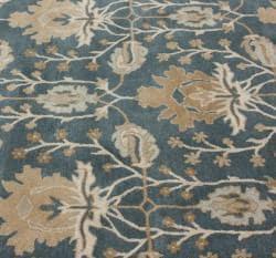 nuLOOM Handmade Mona Arts and Crafts Slate Wool Rug (5' x 8') - Thumbnail 2