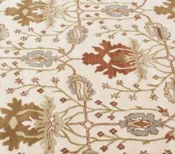 nuLOOM Handmade Mona Arts and Crafts Ivory Wool Rug (6' x 9') - Thumbnail 2