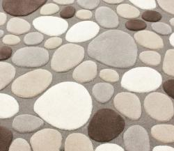 nuLOOM Handmade Mona Pebbles Beige Wool Rug (6' x 9')