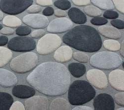 nuLOOM Handmade Mona Pebbles Grey Wool Rug (6' x 9') - Thumbnail 2