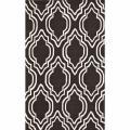 nuLOOM Handmade Modern Trellis Brown Wool Rug (7'6 x 9'6)
