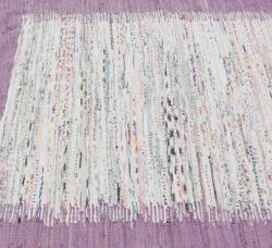 nuLOOM Handmade Mona Kilim Flatweave Lavender Cotton Rug (6' x 9') - Thumbnail 2