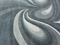 nuLOOM Handmade Swirls Grey Wool Rug (7'6 x 9'6)