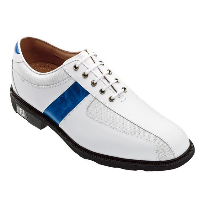FootJoy Men's Icon Sport Saddle White/ Blue Golf Shoes