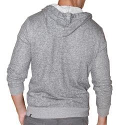 191 Unlimited Men's Grey Terry Cloth Hoodie - Thumbnail 1