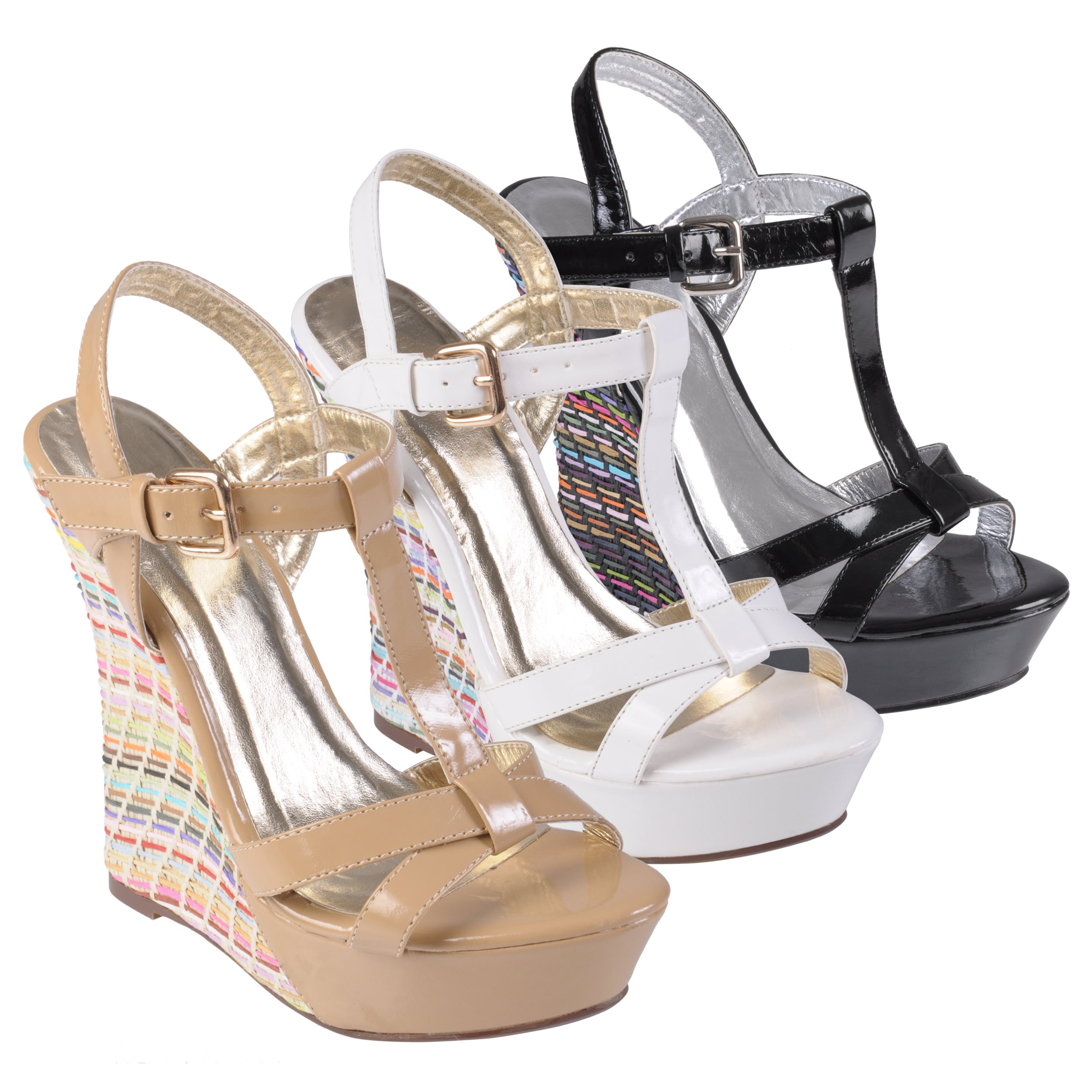 Journee Collection Womens 'Boston-7' Open Toe Ankle Strap Wedges