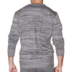 191 Unlimited Men's Grey Heathered Cardigan - Thumbnail 1