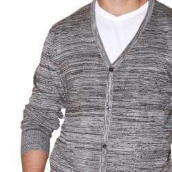 191 Unlimited Men's Grey Heathered Cardigan - Thumbnail 2