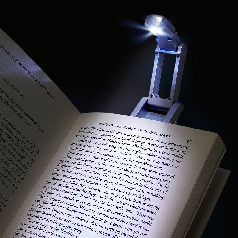 BasAcc Silver Ultra-bright Single Book-reading LED Light with Clip