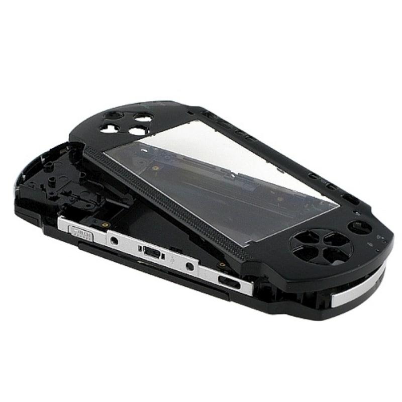 BasAcc Black Shell Kit for Sony PSP1000