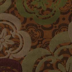 Banister Caramel Floral Rug (5'3 x 7'10) - Thumbnail 1