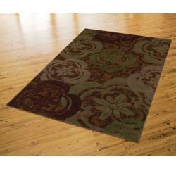 Banister Caramel Floral Rug (5'3 x 7'10) - Thumbnail 2