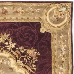 Safavieh Handmade French Aubusson Red Premium Wool Rug (9' x 12') - Thumbnail 1