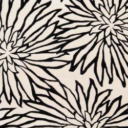 Hand-tufted White Habala New Zealand Wool Rug (3'3 x 5'3) - Thumbnail 1