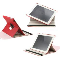 360 Degree Rotating Dual Layer PU Leather case with smart Cover function for The New iPad 3 3rd iPad