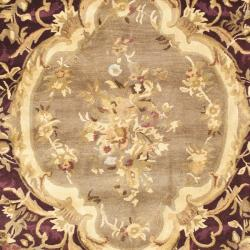 Safavieh Handmade French Aubusson Red Premium Wool Rug (9' x 12') - Thumbnail 2