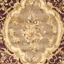 Safavieh Handmade French Aubusson Red Premium Wool Rug (8'3 x 11') - Thumbnail 2