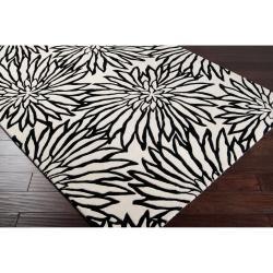 Hand-tufted White Habala New Zealand Wool Rug (3'3 x 5'3) - Thumbnail 2