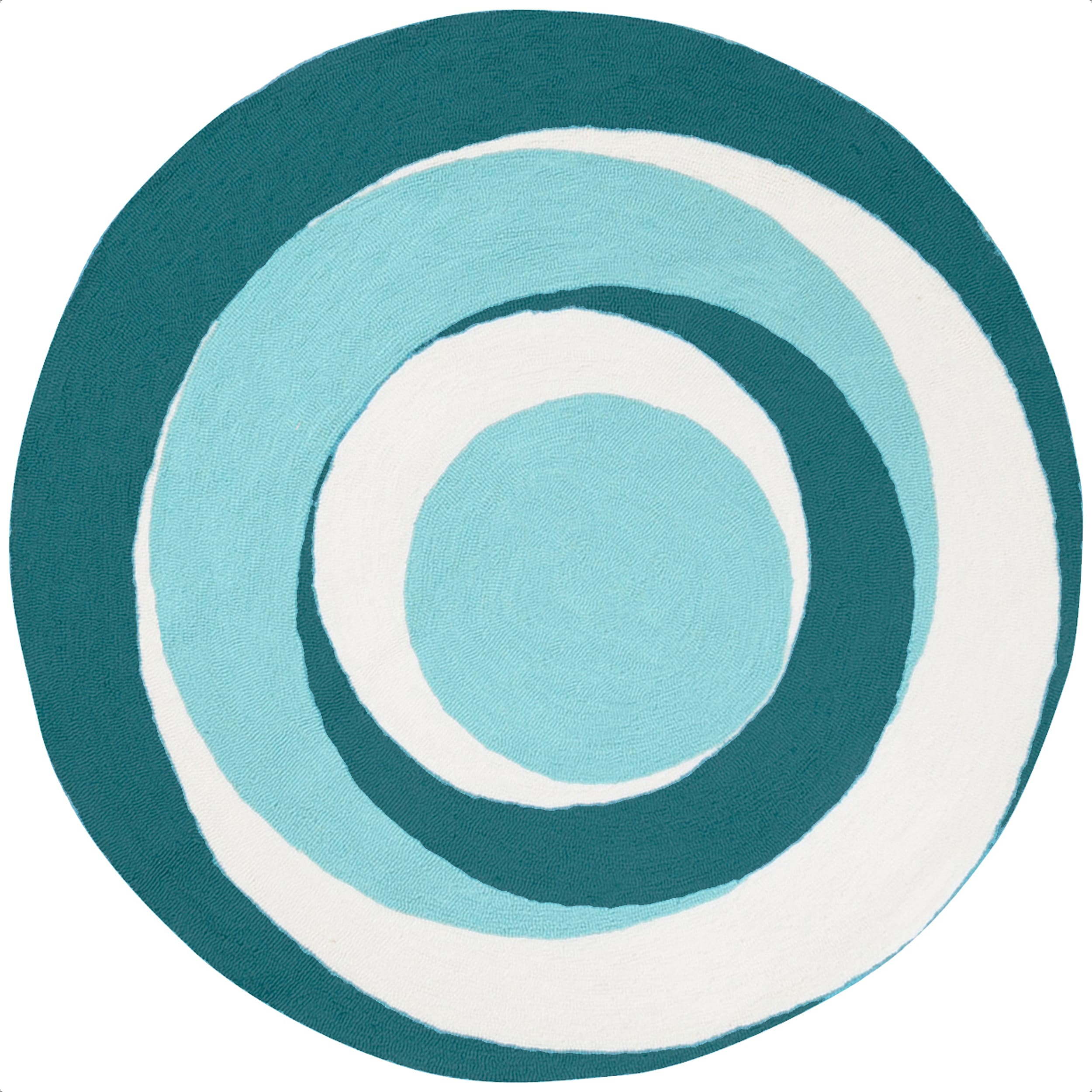 Hand-hooked Blue Purley6028 Polyester Rug (6' Round)