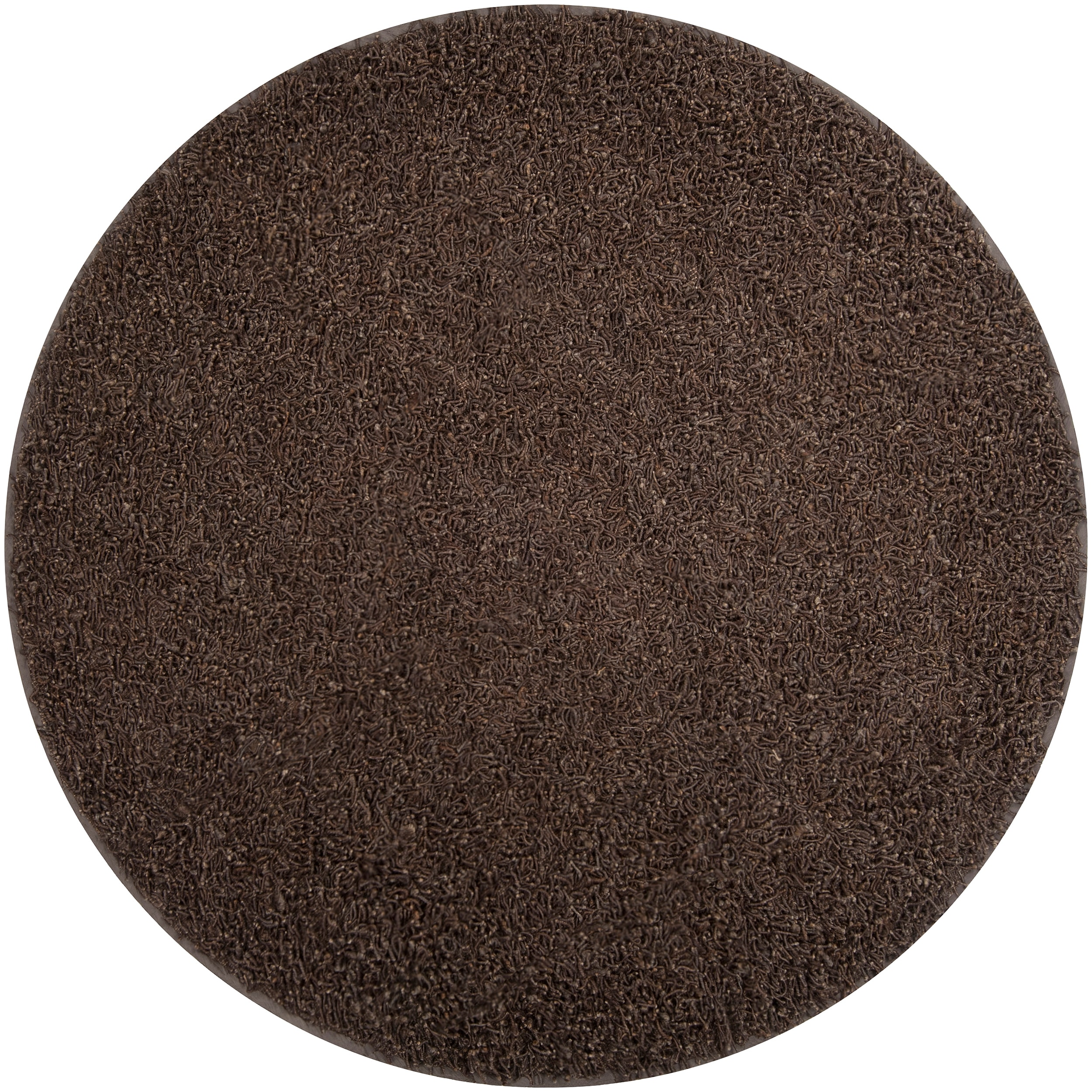 Hand-woven Brown Quintess Natural Fiber Jute Shag Rug (6' Round)