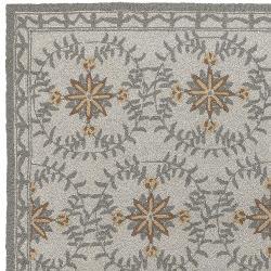 Hand-hooked Beige Indoor/Outdoor Moroccan Tile Rug (9' x 12')